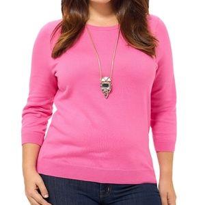 Lands End Supima 3/4 Sleeve Sweater PETITE XL